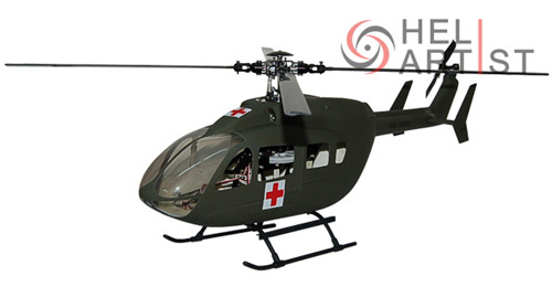 EC-145 Fiber Glass Fuselage (Army) Heliartist HA450EC14502